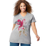 Just My Size Tropical Flower Short Sleeve Graphic Tee GTJ181 Y06069
