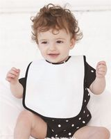 Rabbit Skins Infant Contrast Trim Terry Bib 1003