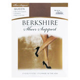 Berkshire Queen Size Silky Sheer Support Pantyhose Sandalfoot 4417