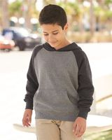 Independent Trading Co. Youth Special Blend Raglan Hooded Sweatshirt PRM15YSB