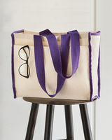 Q-Tees 14L Tote with Contrast-Color Handles Q1100