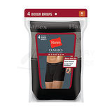 Hanes Classics Mens TAGLESS Stretch Boxer Briefs with Comfort Flex Waistband 4-Pk 7792BG