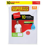Hanes Men's Crew Neck Undershirt 10 Pack 2135P0