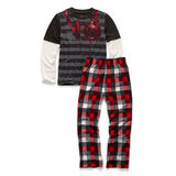 Hanes Boys Sleepwear 2-Piece Pajama Set, Headphones Print 6019F