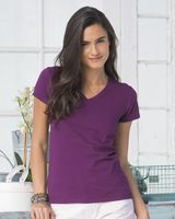 Fruit of the Loom Sofspun Women's V-Neck T-Shirt SFJVR