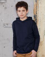 Anvil Youth Hooded Long Sleeve T-Shirt 987B