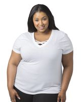Boxercraft Women's Plus Size Caged Front T-Shirt T27PLUS