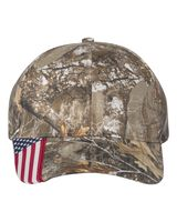 Outdoor Cap Cap with American Flag on Visor CWF305