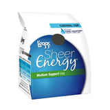 L'eggs Sheer Energy Control Top Reinforced Toe Pantyhose 6-Pack 65211