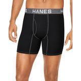 Hanes Ultimate™ Men's Comfort Flex Fit® Ultra Soft Cotton/Modal Boxer Briefs Black/Grey Assorted 4-Pack UFBBB4