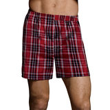 Hanes Classics Men's TAGLESS Tartan Boxers with Comfort Flex Waistband 2X-4X 2-Pack 795BX2