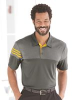 Adidas Heathered 3-Stripes Block Sport Shirt A213