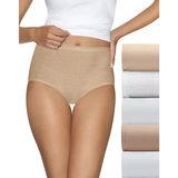 Hanes Ultimate Comfort Cotton Womens Brief Panties 5-Pack 40HUCC