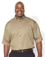 FeatherLite Short Sleeve Twill Shirt Tall Sizes 6281