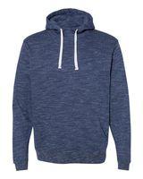 J. America Melange Fleece Hooded Pullover Sweatshirt 8677