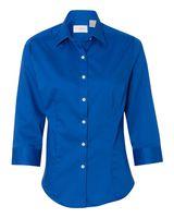 Van Heusen Women's Three-Quarter Sleeve Baby Twill Shirt 13V0527