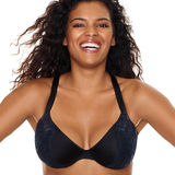 Just My Size Embellished Plunge Foam Underwire Bra MJ1204