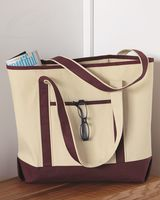Q-Tees 34.6L Large Canvas Deluxe Tote Q1500