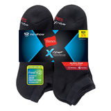 Hanes Men's FreshIQ X-Temp Active Cool Big and Tall No-Show Socks 12-Pack AC12P