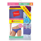 Hanes Women's Bikini 100% Cotton 8-Pack P842WB