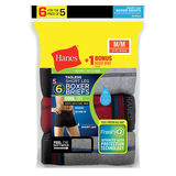 Hanes Men's White TAGLESS Short Leg Sport Styling Boxer Briefs 6-Pack MCBSZ6