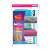 Hanes Sporty Womens Hipster Panties 6-Pk PP41SC