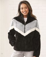 Boxercraft Women's Chevron Fuzzy Fleece Pullover FZ05
