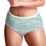 Just My Size Lace Effects 100% Cotton TAGLESS Brief Panties 5-Pk 1610LE