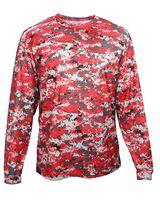 Badger Digital Camo Youth Long Sleeve T-Shirt 2184