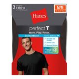 Hanes ComfortBlend Mens Perfect T Dyed Crewneck Undershirt 3-Pack MBT1H3