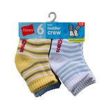 Hanes Boys Infant/Toddler Crew EZ Sort Socks 6-Pk 26/6
