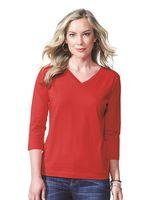 LAT Women's 3/4 Sleeve Premium Jersey Tee 3577