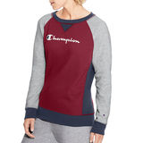 Champion Women's Heritage French Terry Crew, Script Logo W9493 549665
