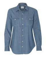 Weatherproof Vintage Women's Denim Long Sleeve Shirt W154695