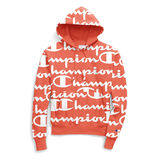 Champion Life Men's Reverse Weave Pullover Hoodie, All Over Logo S2974
