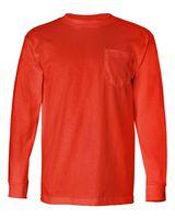 Bayside USA-Made Long Sleeve T-Shirt with a Pocket 8100