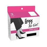 L'eggs To Go Regular Knee Highs 3 pair 15208