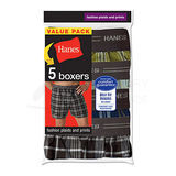 Hanes Mens Red Label Exposed Waistband Fashion Plaid Boxer 5-Pk MWCBX5