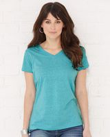 LAT Women's Harborside Melange V-Neck T-Shirt 3591