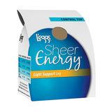 L'eggs Sheer Energy Light Support Leg Control Top Sheer Toe Pantyhose 66110