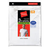 Hanes Mens White Crew Neck Undershirt 3-Pk 2135
