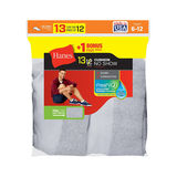 Hanes Men's Cushion No-Show Socks 13-Pack (Includes 1 Free Bonus Pair) 190V13