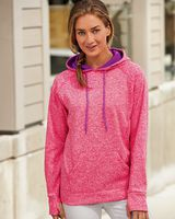 J. America Women's Cosmic Fleece Contrast Hooded Pullover Sweatshirt 8616