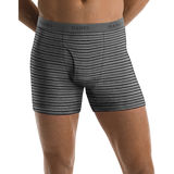 Hanes Men's TAGLESS Ultimate Fashion Stripe Boxer Briefs with Comfort Flex Waistband 5-Pk 76925S