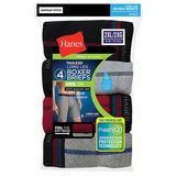Hanes Men's Cool DRI Long Leg Boxer Briefs 4-Pack MCB3A4