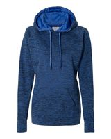 J. America Women's Cosmic Fleece Contrast Hooded Pullover Sweatshirt 8616