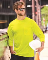 Hanes Workwear Long Sleeve Pocket T-Shirt W120