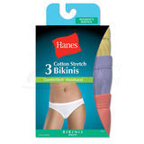 Hanes Womens Cotton Stretch Bikini with ComfortSoft Waistband 3-Pk ET42AS