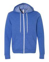 Bella + Canvas Unisex Full-Zip Hooded Sweatshirt 3739