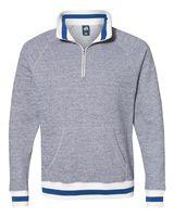 J. America Peppered Fleece 1/4 Zip Pullover 8703